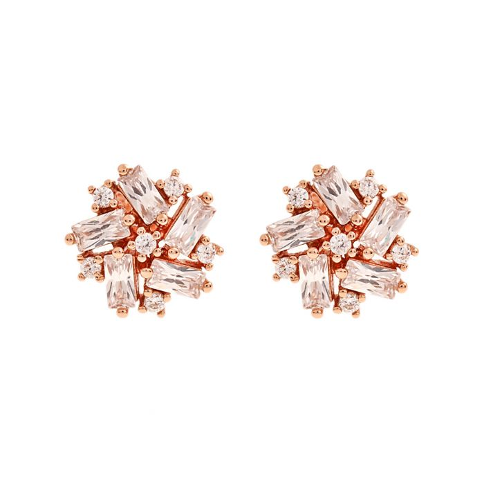 Image for Juliet rose gold-plated cluster studs