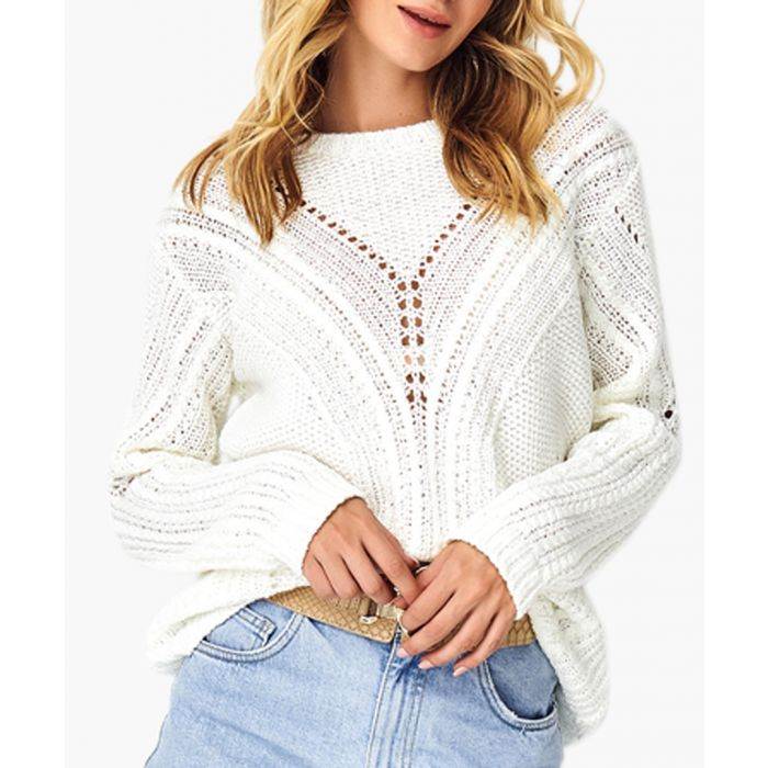 Image for White knitted jumper