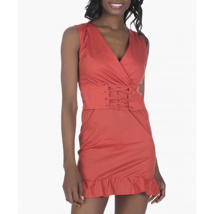 Image for Orange cotton dress