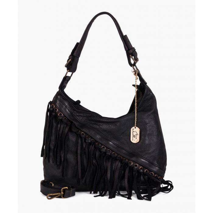 Image for Giuseppina black leather shoulder bag