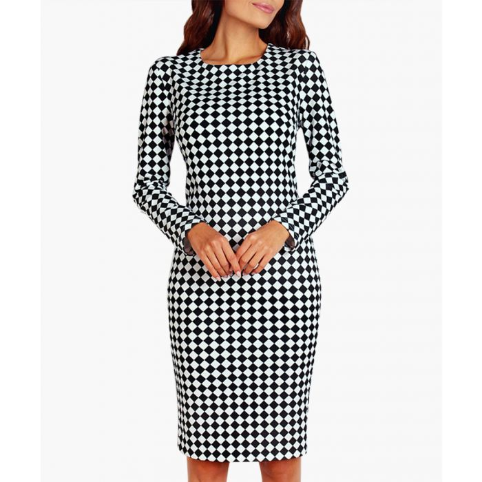 Image for Black and white knit dress