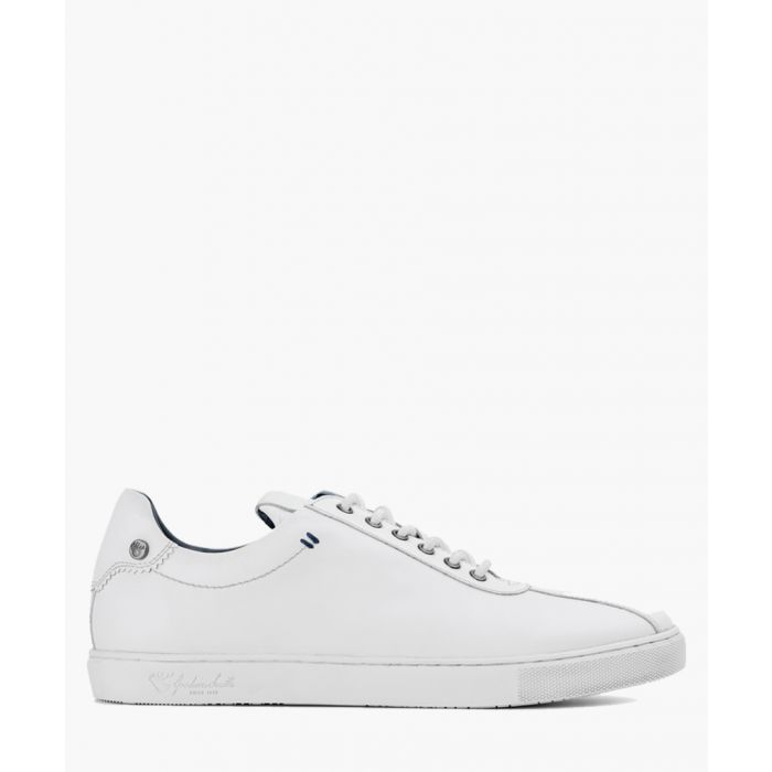 Image for White leather trainers