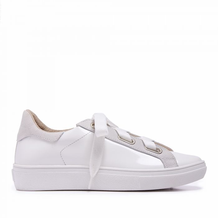 Image for Womens white leather trainers