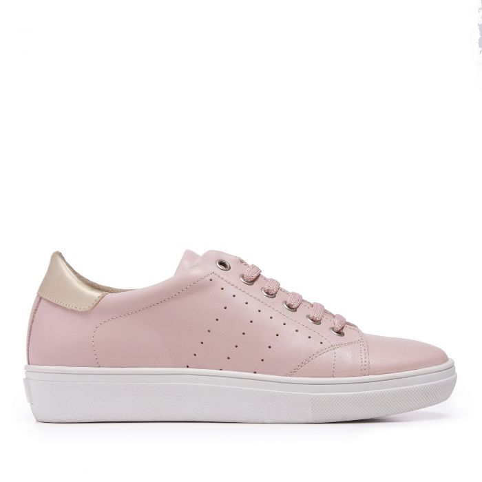 Image for Womens pink leather trainers