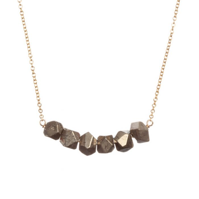Image for Gold-tone and gunmetal necklace