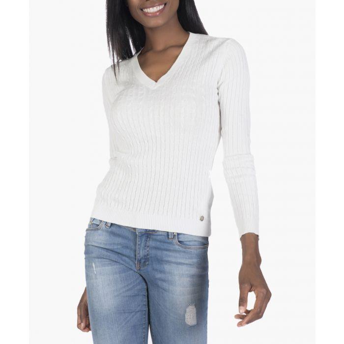 Image for Ecru cotton-blend jumper