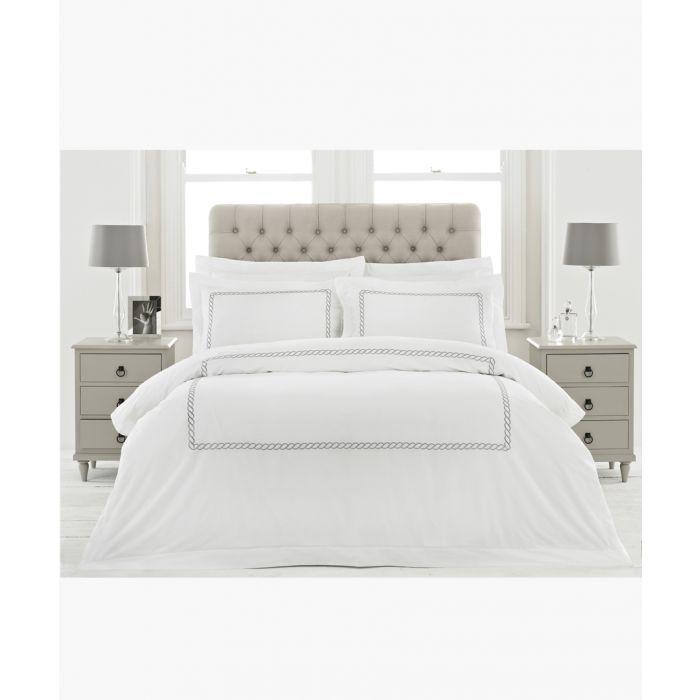 Image for Cleopatra silver-tone cotton oxford pillowcase