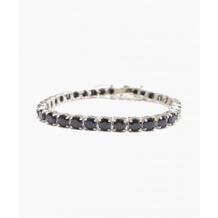 Image for 25.00ct black sapphire and diamond silver bracelet