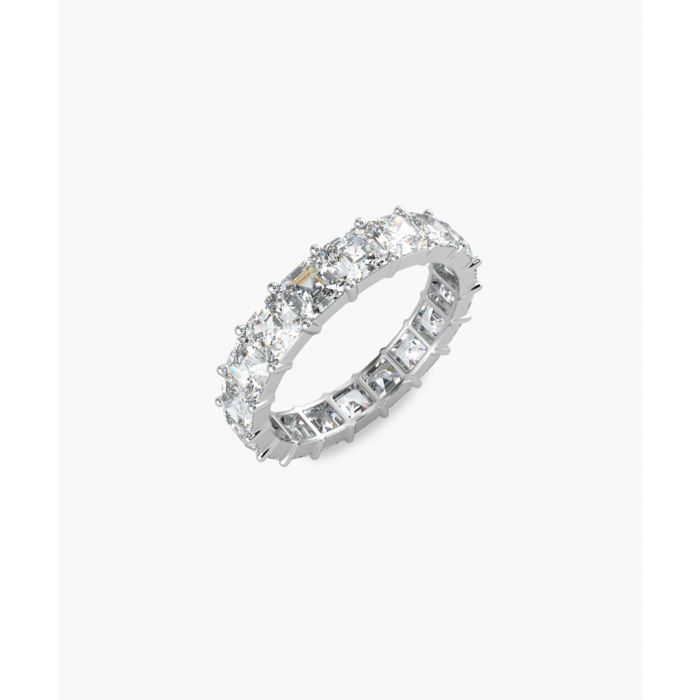 Image for Platinum and 4.00ct asscher-cut diamond full eternity ring