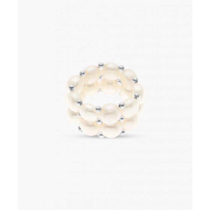 Image for 2pc Natural white freshwater pearl rings