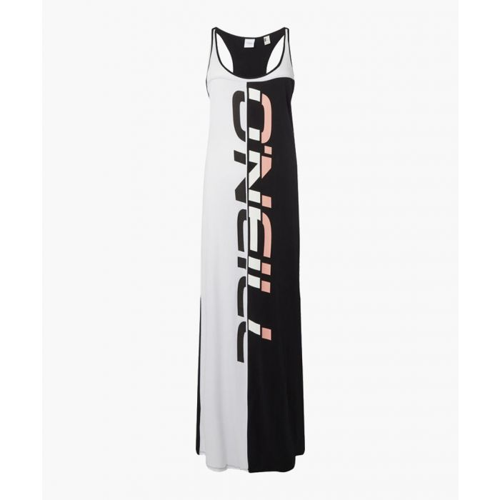Image for Black & white logo racerback dress