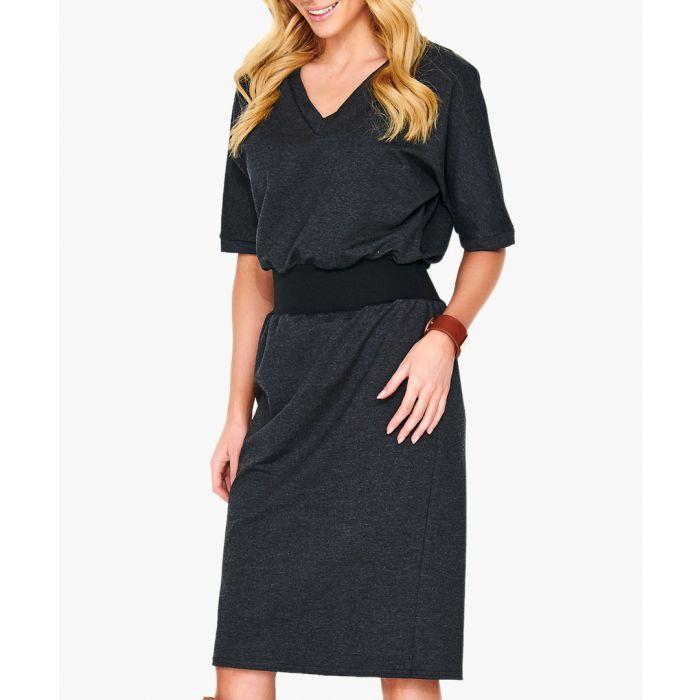 Image for Graphite cotton blend dress