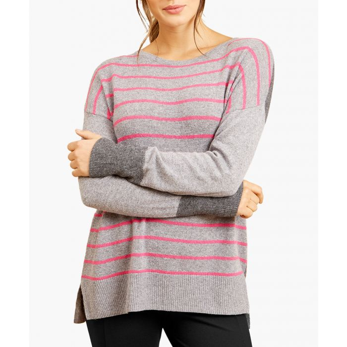 Image for Roxy striped wool and cashmere blend petite jumper