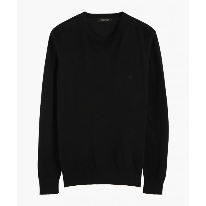 Image for Black classic crew neck jumper