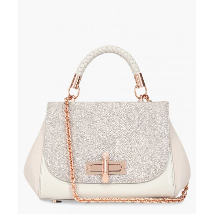 Image for Braided Redmayne grey leather tote