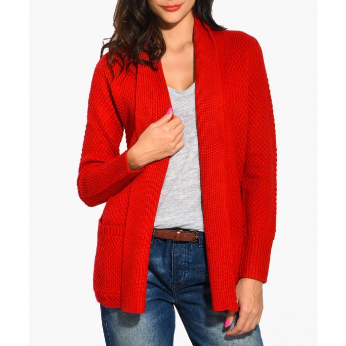Image for Berry cashmere and mohair blend cardigan