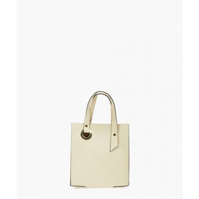 Image for Beige leather handbag