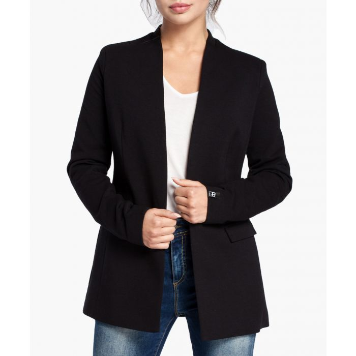 Image for Black Cotton Blend Blazer
