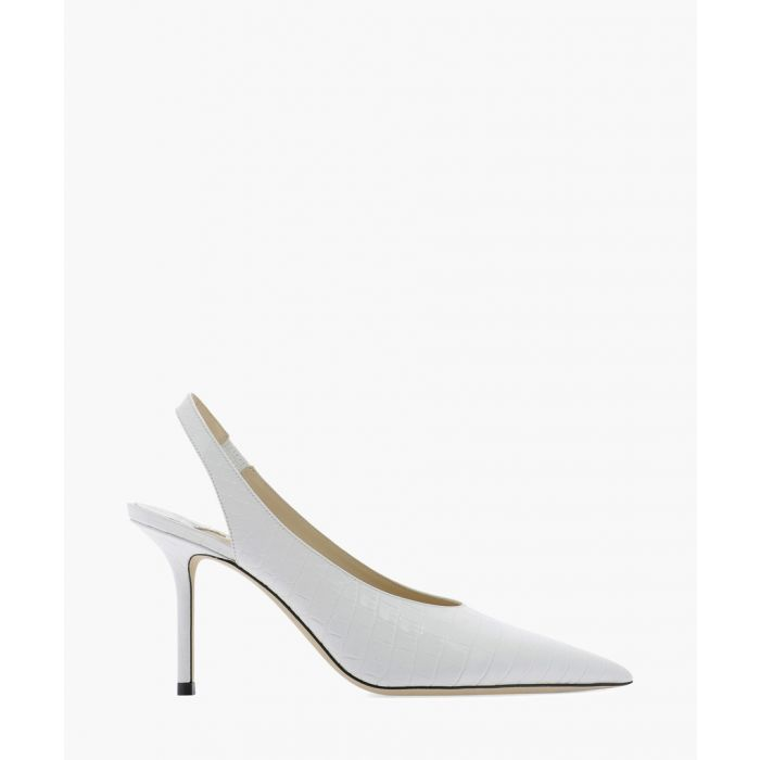 Image for Ivy 85 white leather slingback pumps