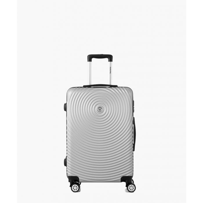 Image for Silver-tone spinner suitcase