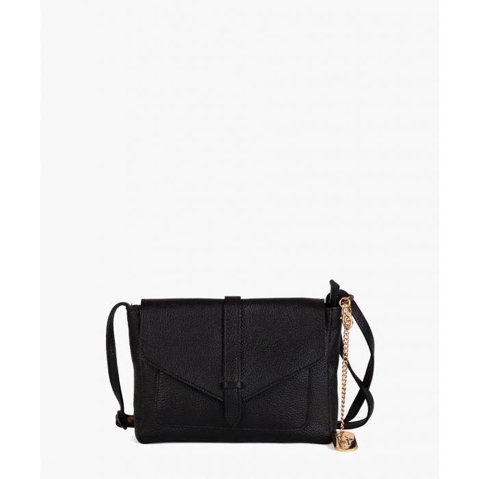 Image for Arianna black leather shoulder bag
