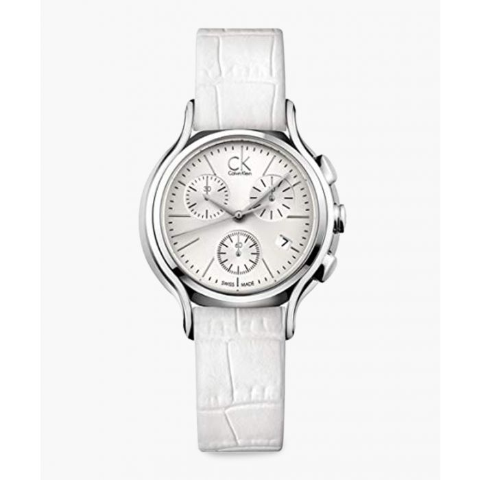 Image for White leather watch