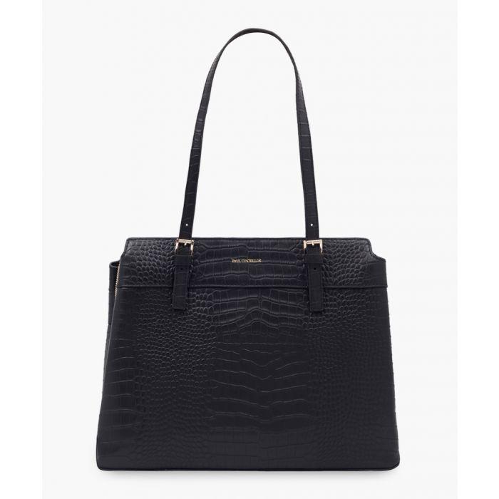 Image for Morella black leather bag