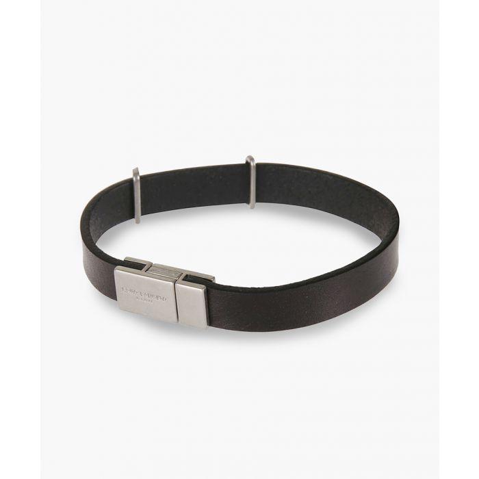 Image for Opyum black leather bracelet