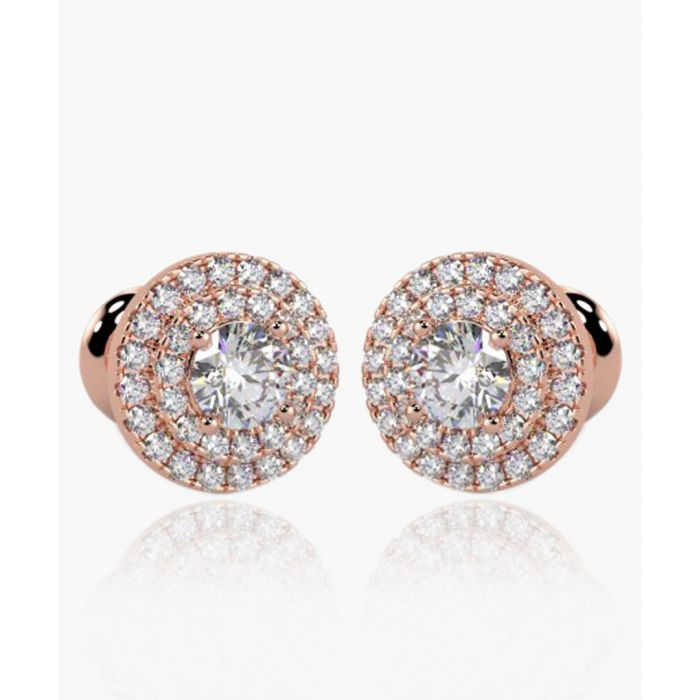 Image for 9k rose gold and 0.60ct diamond earrings