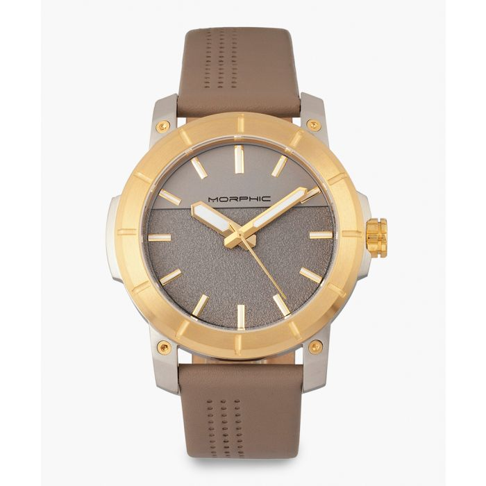 Image for M54 Series leather and stainless steel analogue watch