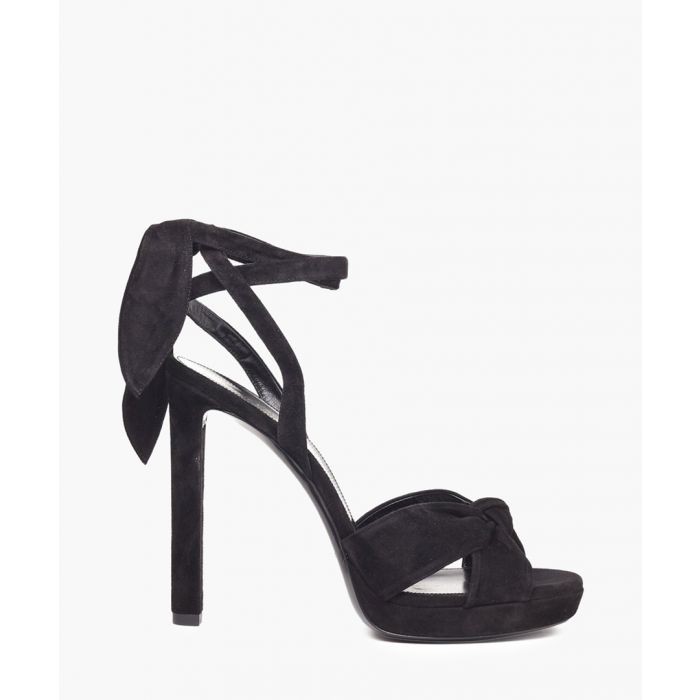 Image for Hall black suede sandals