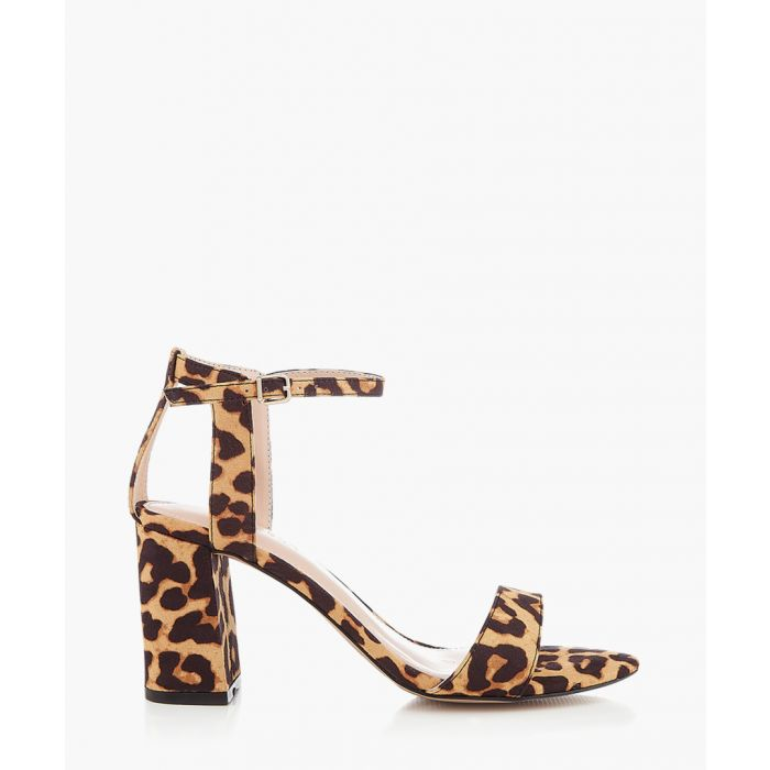 Image for Leopard printed block heel sandals