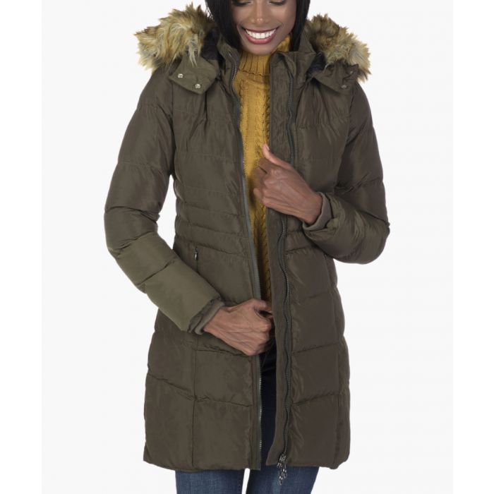 Image for Khaki quilted coat