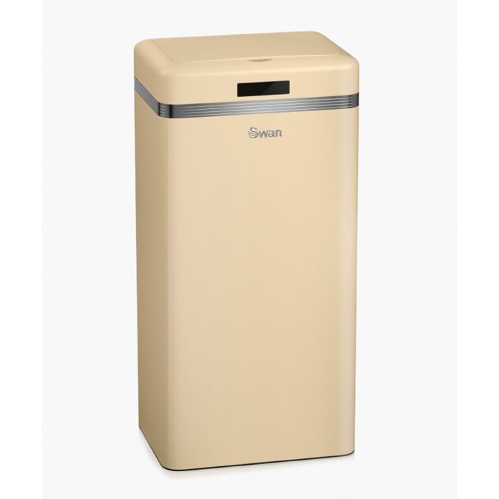 Image for Retro cream square sensor bin 45L
