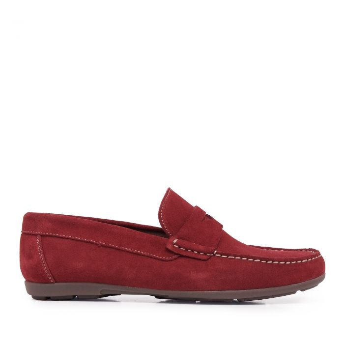 Image for Red leather loafers