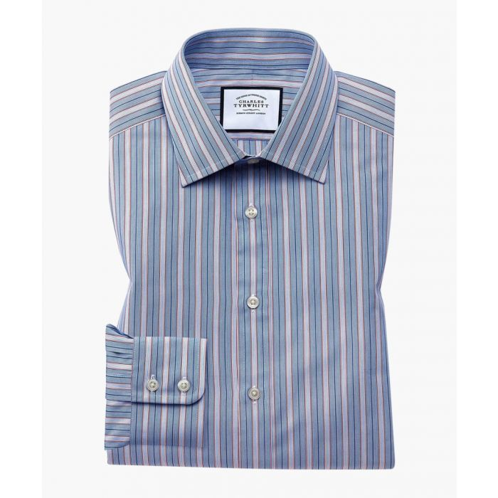 Image for Multi-coloured Egyptian cotton extra slim fit striped shirt