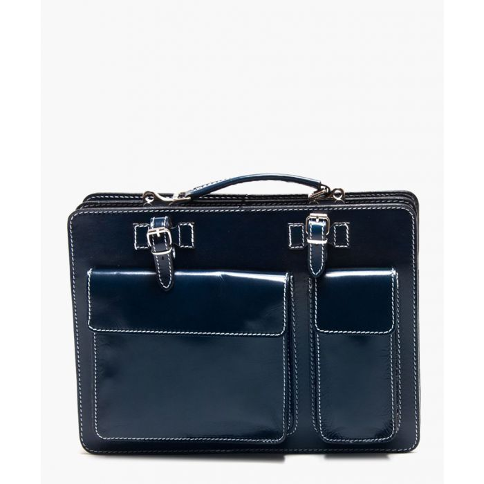 Image for Blue leather shoulder bag