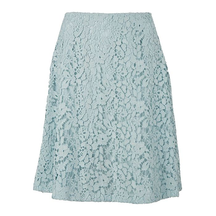 Image for Women's Tam blue floral lace skirt