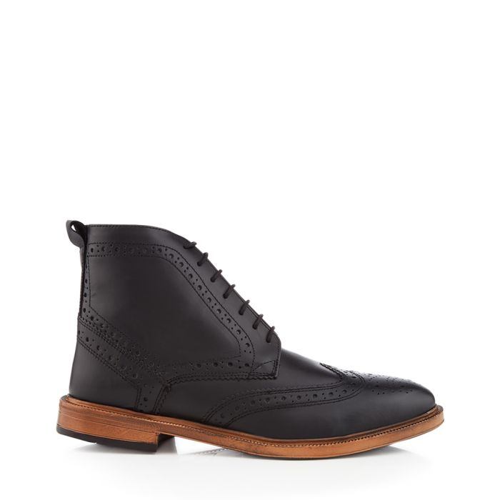 Image for Boston black perforated ankle boots