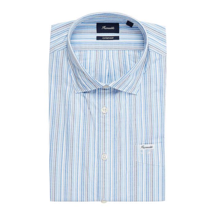 Image for Drifter blue striped shirt