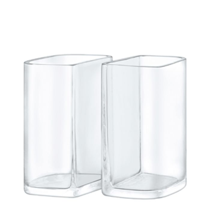 Image for 2pc Echo glass vase set 19cm