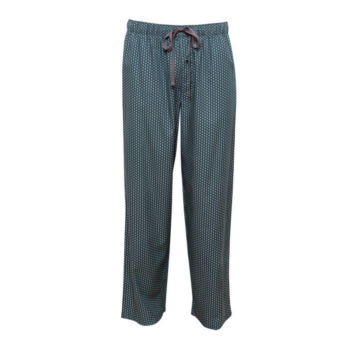 Image for Alfie green cotton-blend tile print pyjama trousers