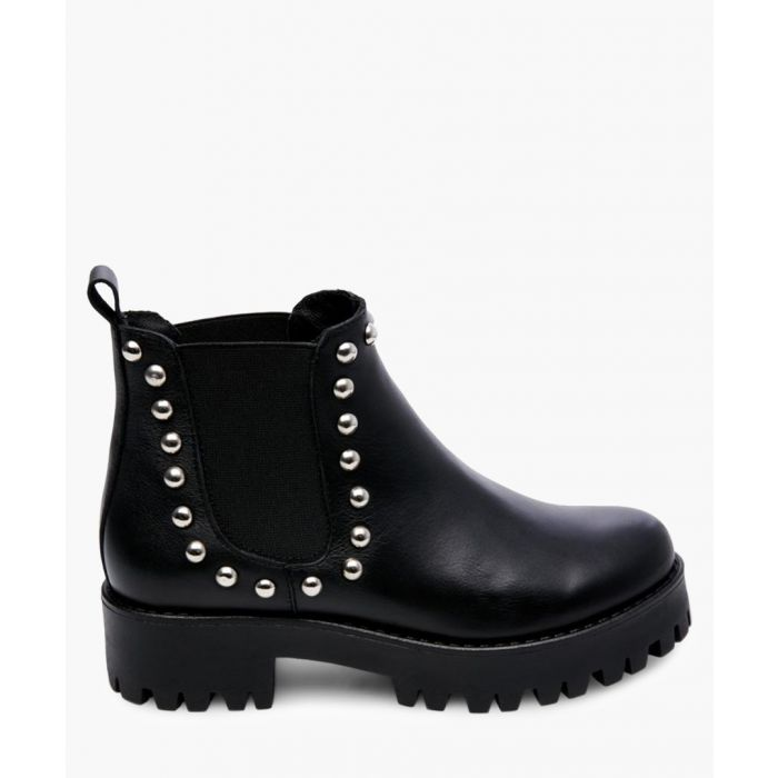 Image for Bossy black leather Ankle boots