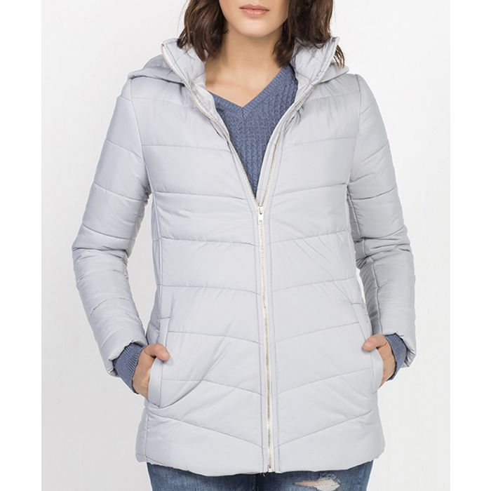 Image for Pebble grey padded coat