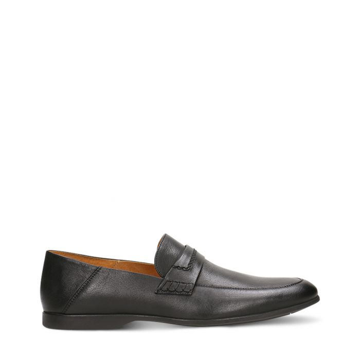 Image for Black lacquered leather loafers