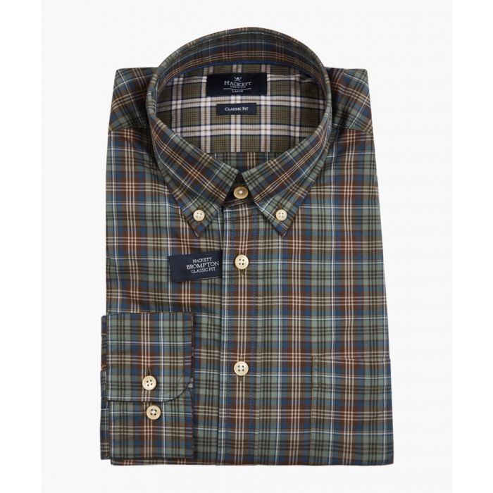 Image for Cigar & green button-up shirt