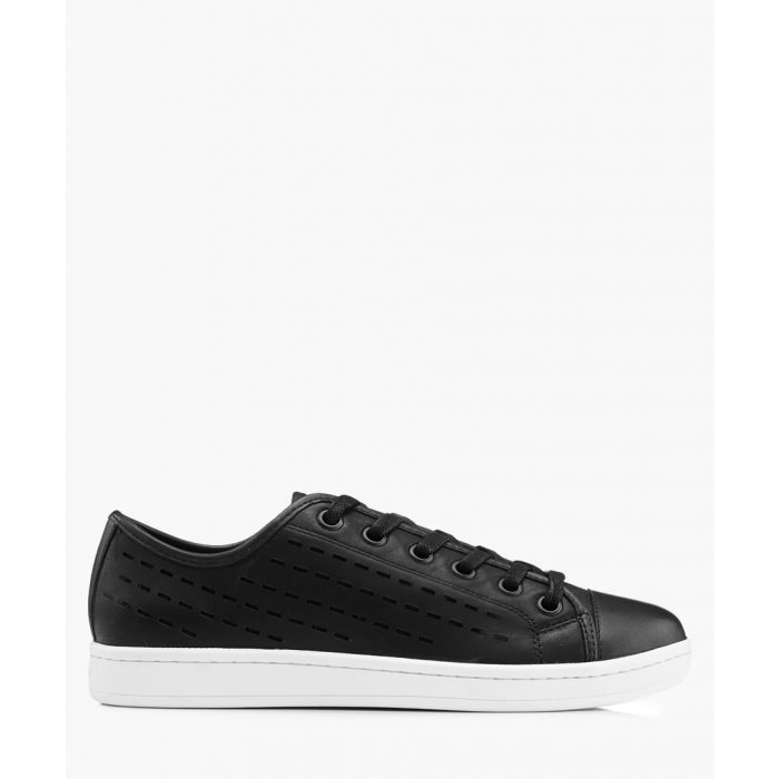 Image for Women's Baylee black leather trainers