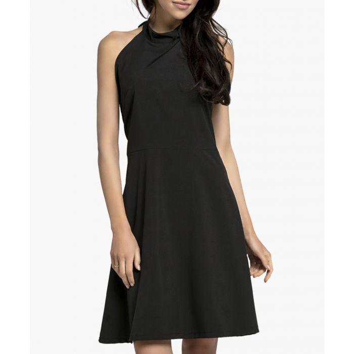 Image for Black halter neck dress