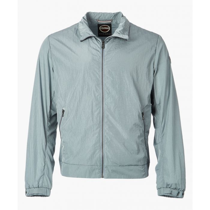 Image for Grey zip-up collared jacket