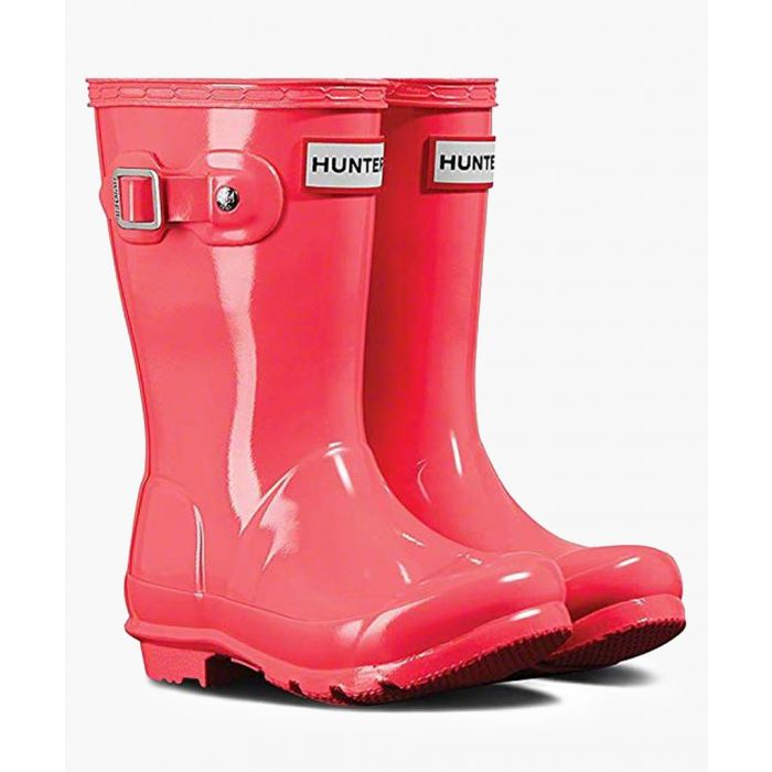 Image for Kids' original gloss hyper pink Wellington boots